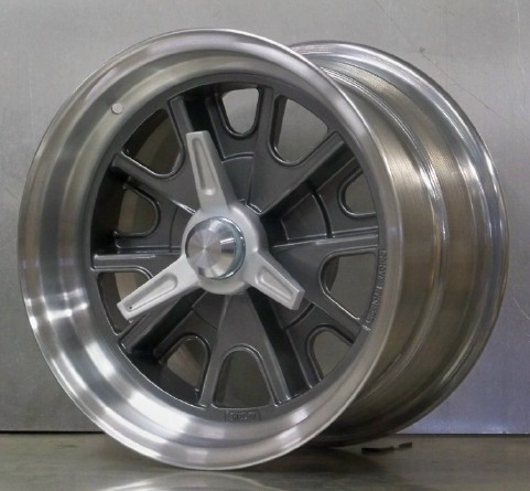 .15x8 15x10 gray with FLAT rims with adapters spinners