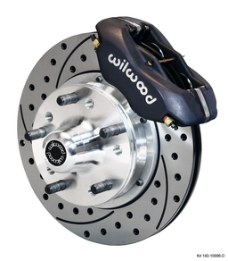 Wilwood front brake drilled slotted Mustang 87-93